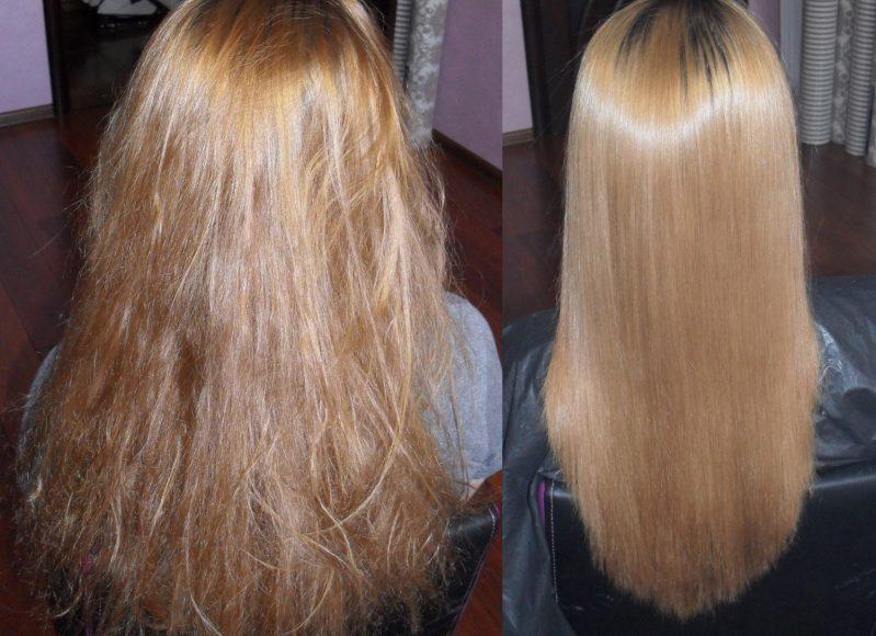 Красивые и здоровые волосы после кератинотерапии